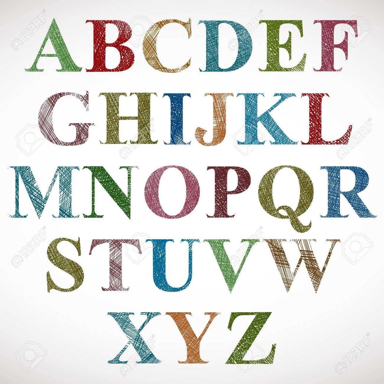Vintage style alphabet. Stock Vector - 15275361