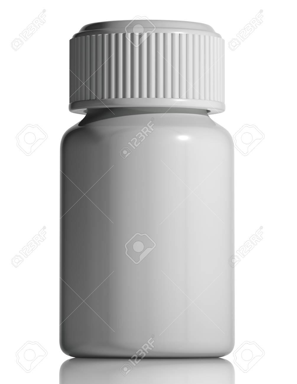 White plastic medical bottle. Stock Photo - 15275108