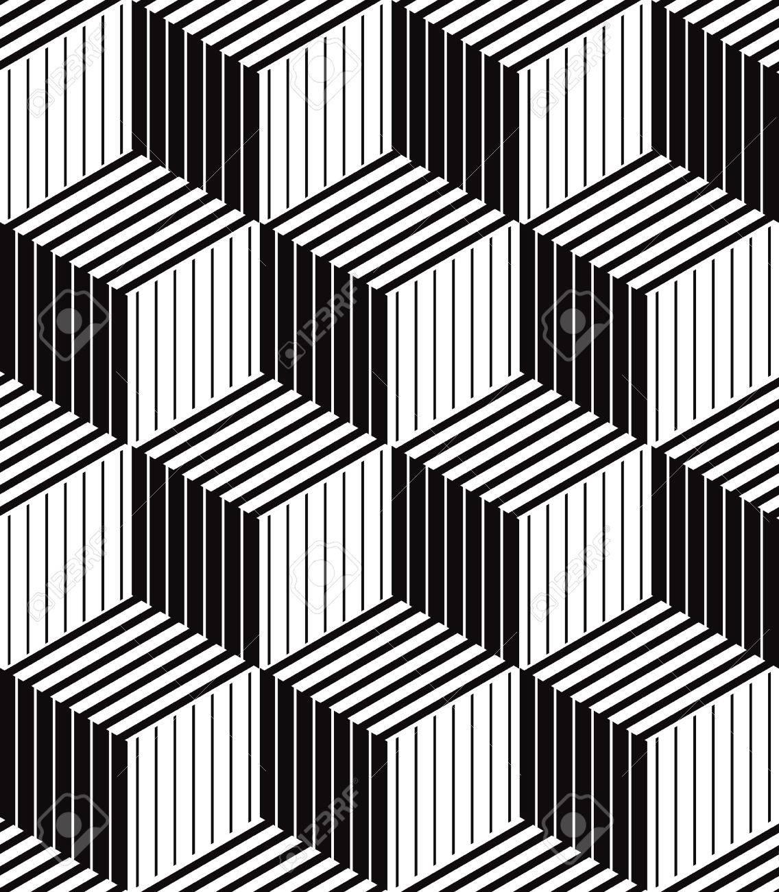 Scatole 3d Geometrica Ottica Modello Senza Soluzione Di Continuità