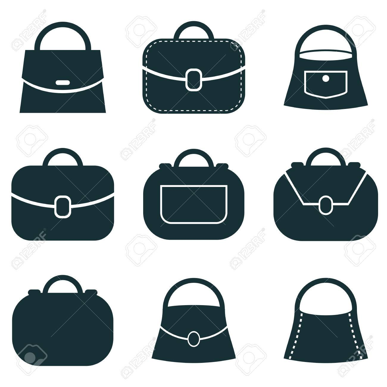 Bag Vector Icons Set Symbols Collection Royalty Free Cliparts