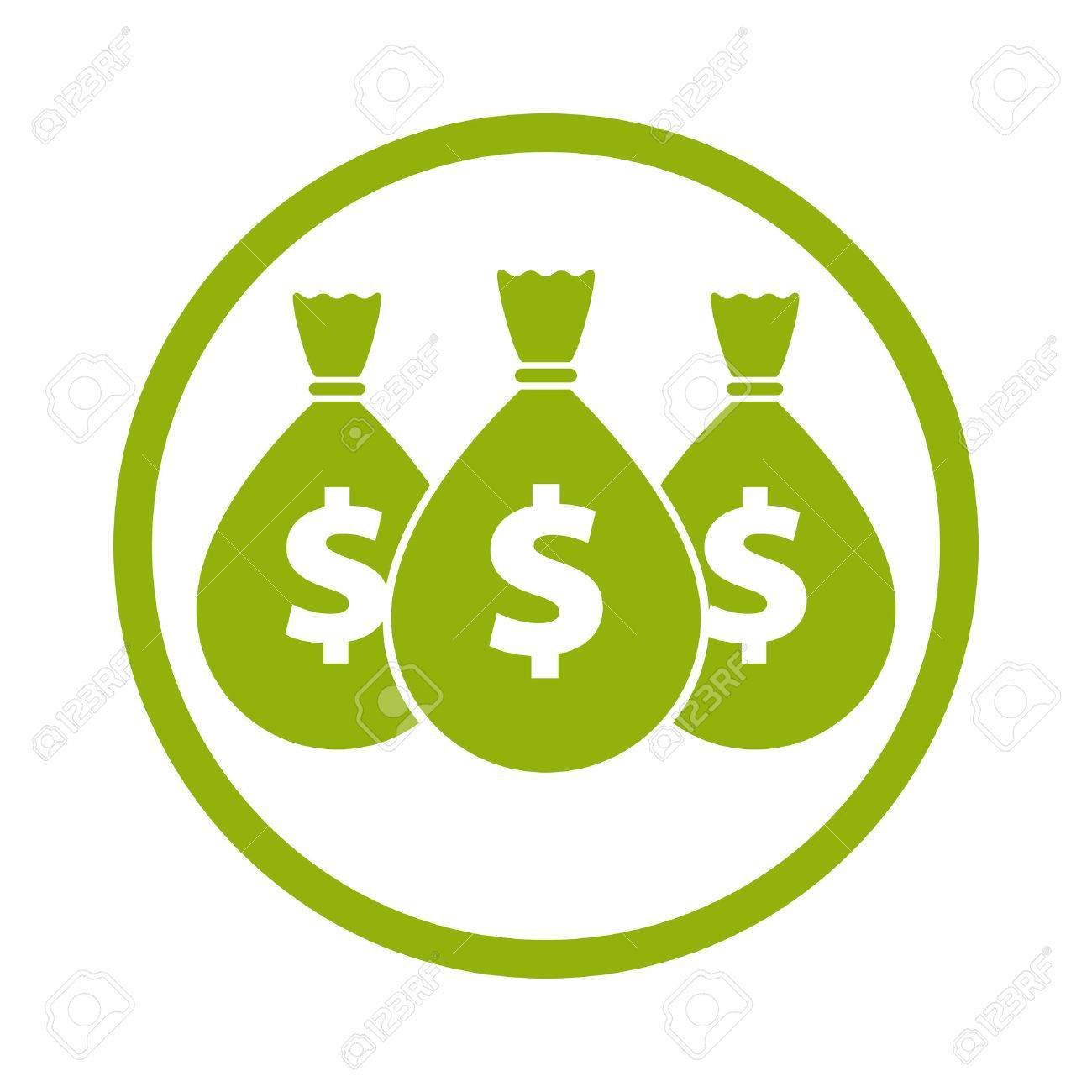 Money icon with three bags, vector. Stock Vector - 32659531