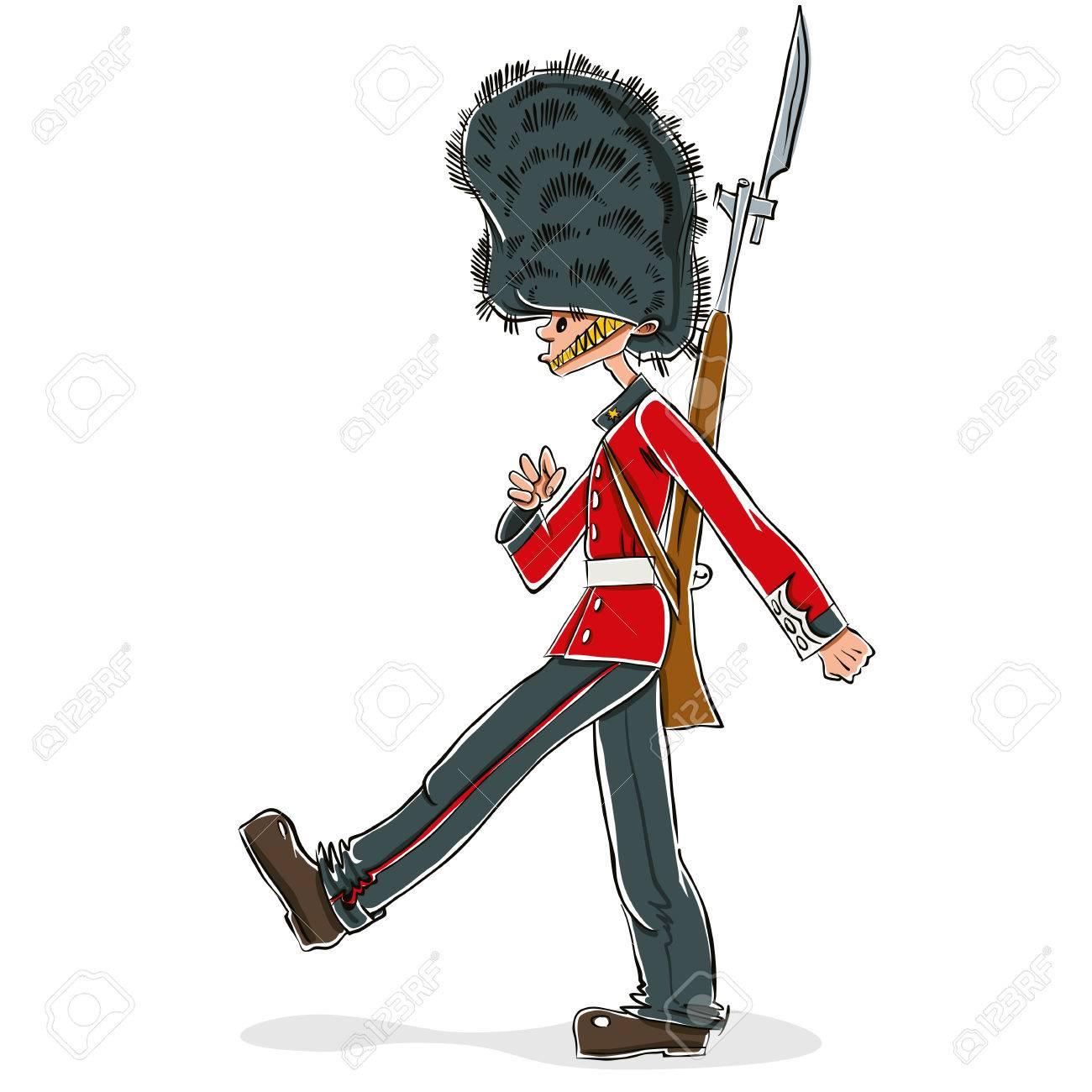 Dessin Animé De Garde Britannique Illustration Vectorielle