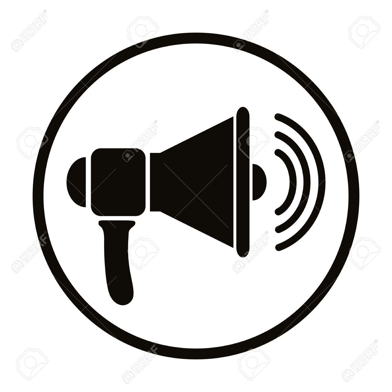 Loudspeaker Icon, Vector Simplistic Symbol. Royalty Free Cliparts ...