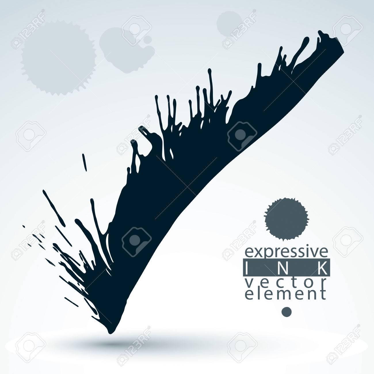 現代ベクトルの真っ黒な壁紙 ブラシで描いた Eps8 Blob は混乱落書き図形要素 灰色のだらしのない図です のイラスト素材 ベクタ Image