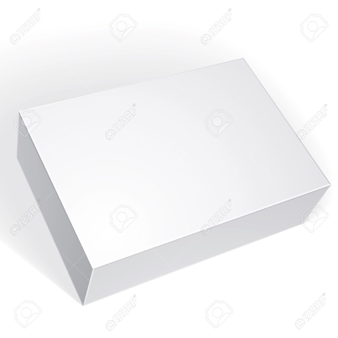 Package white box design isolated on white background, template for your package design, put your image over the box in multiply mode, vector illustration eps 8. - 36018980