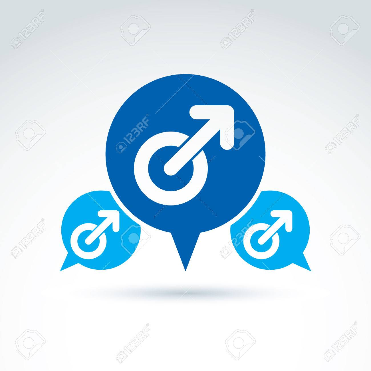 Speech Bubble With A Blue Male Sign Man Gender Symbol Gay Club