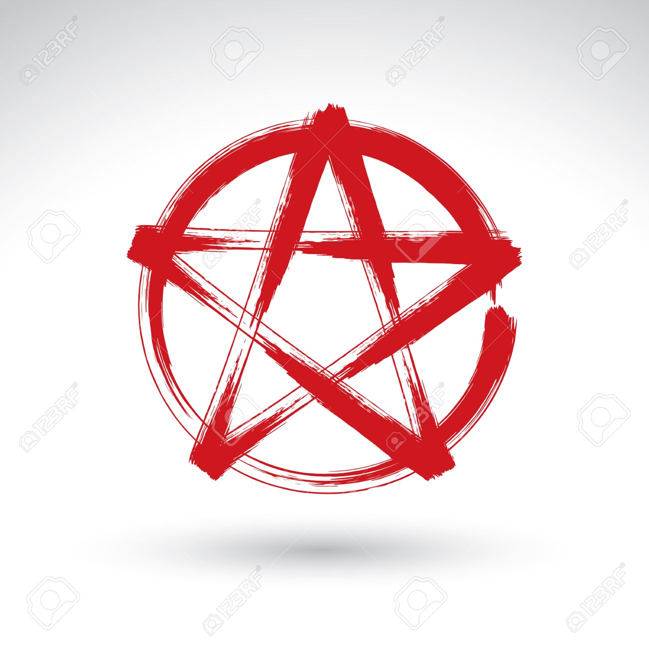 Pentagram Simple Background Stars
