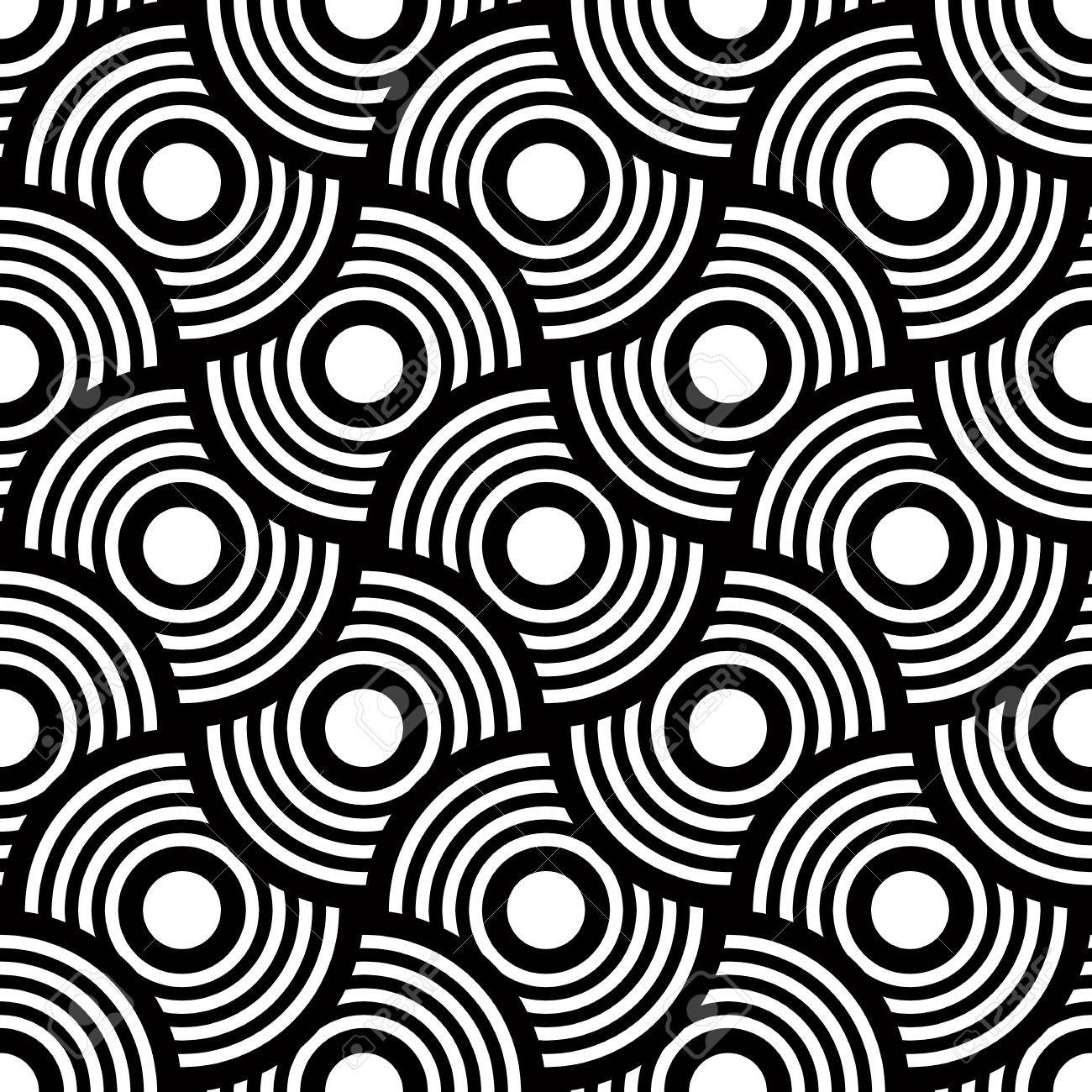 Seamless geometric pattern, simple vector black and white stripes background, accurate, editable and useful background for design or wallpaper. - 38356807