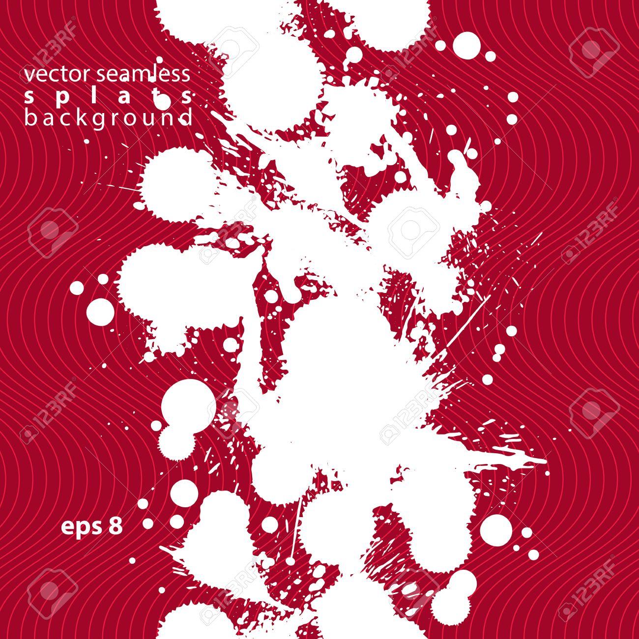 現代の真っ黒な壁紙の色 Eps8 Blob シームレス パターン ブラシで塗りつぶされた 落書きの図形表現した赤だらしのないイラストが背景を混乱します のイラスト素材 ベクタ Image