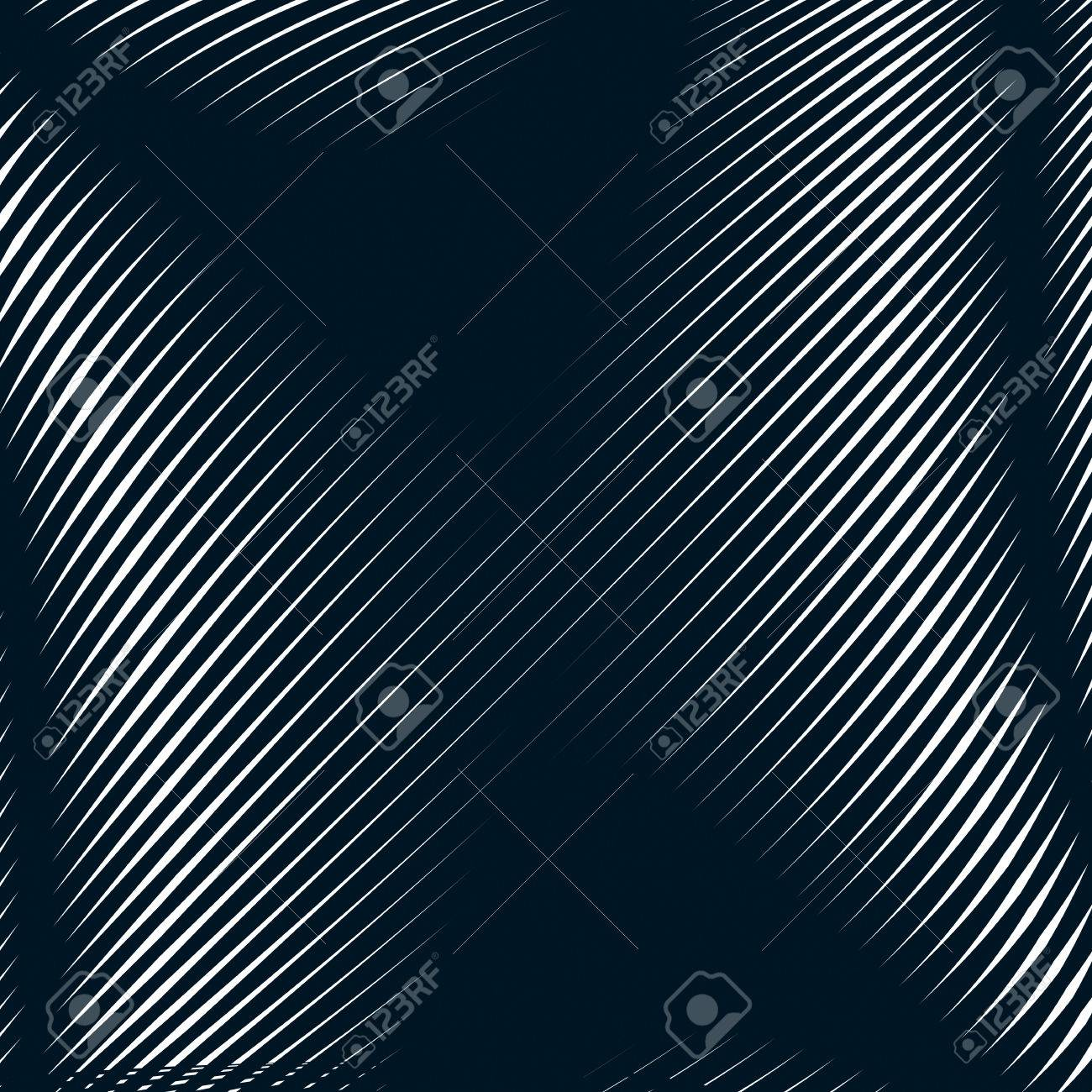 Abstract lined background, optical illusion style. Chaotic lines creating geometric pattern with visual effects. - 44791193