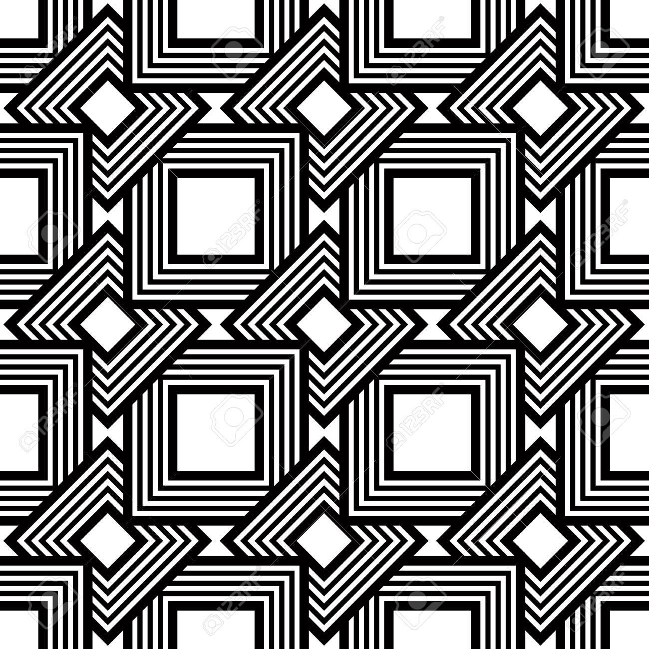 Nahtlose Schwarz Weiß Muster Einfache Vektor Streifen Geometrischen