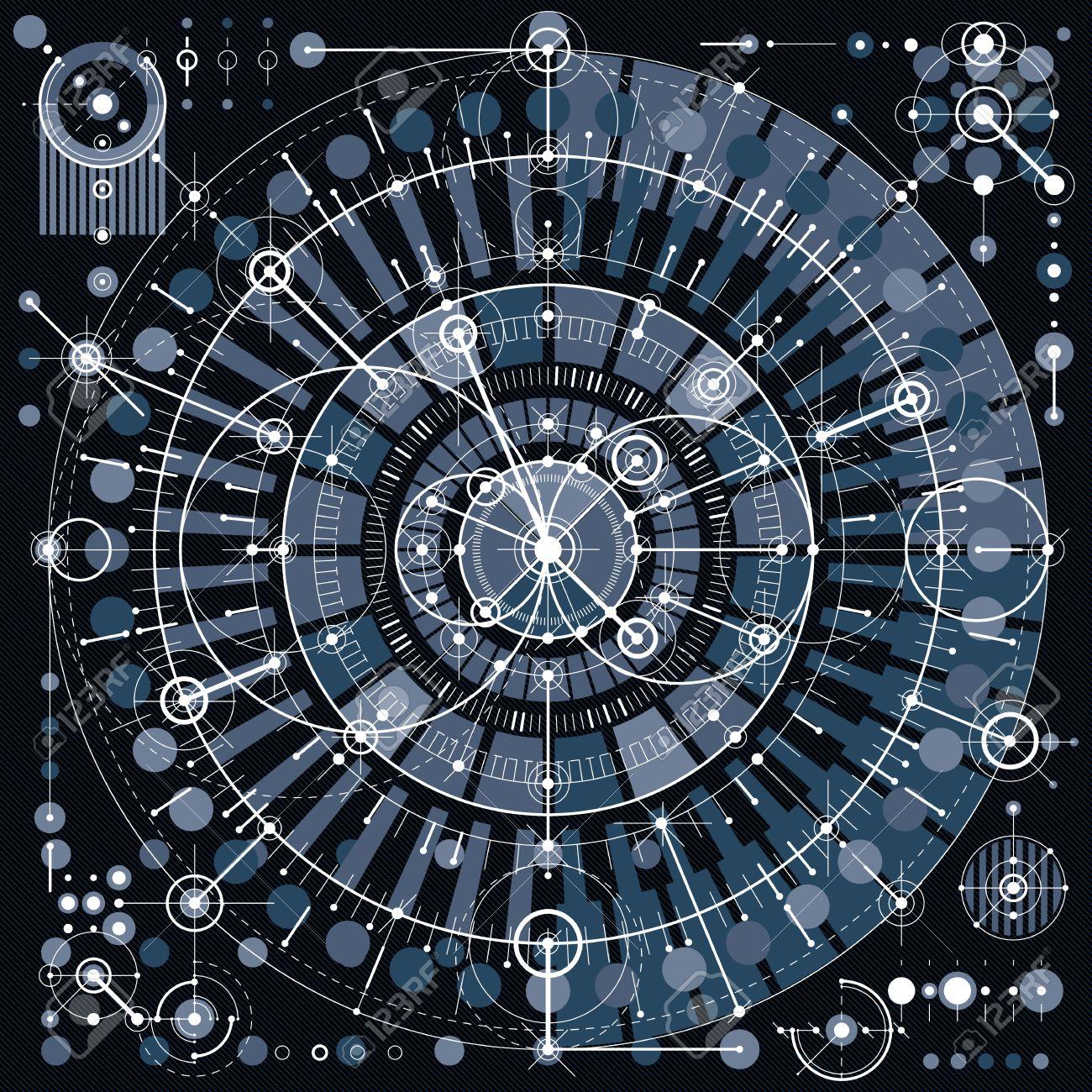 機械的方式 ベクトル機構の幾何学的な部品と図面をエンジニア リング