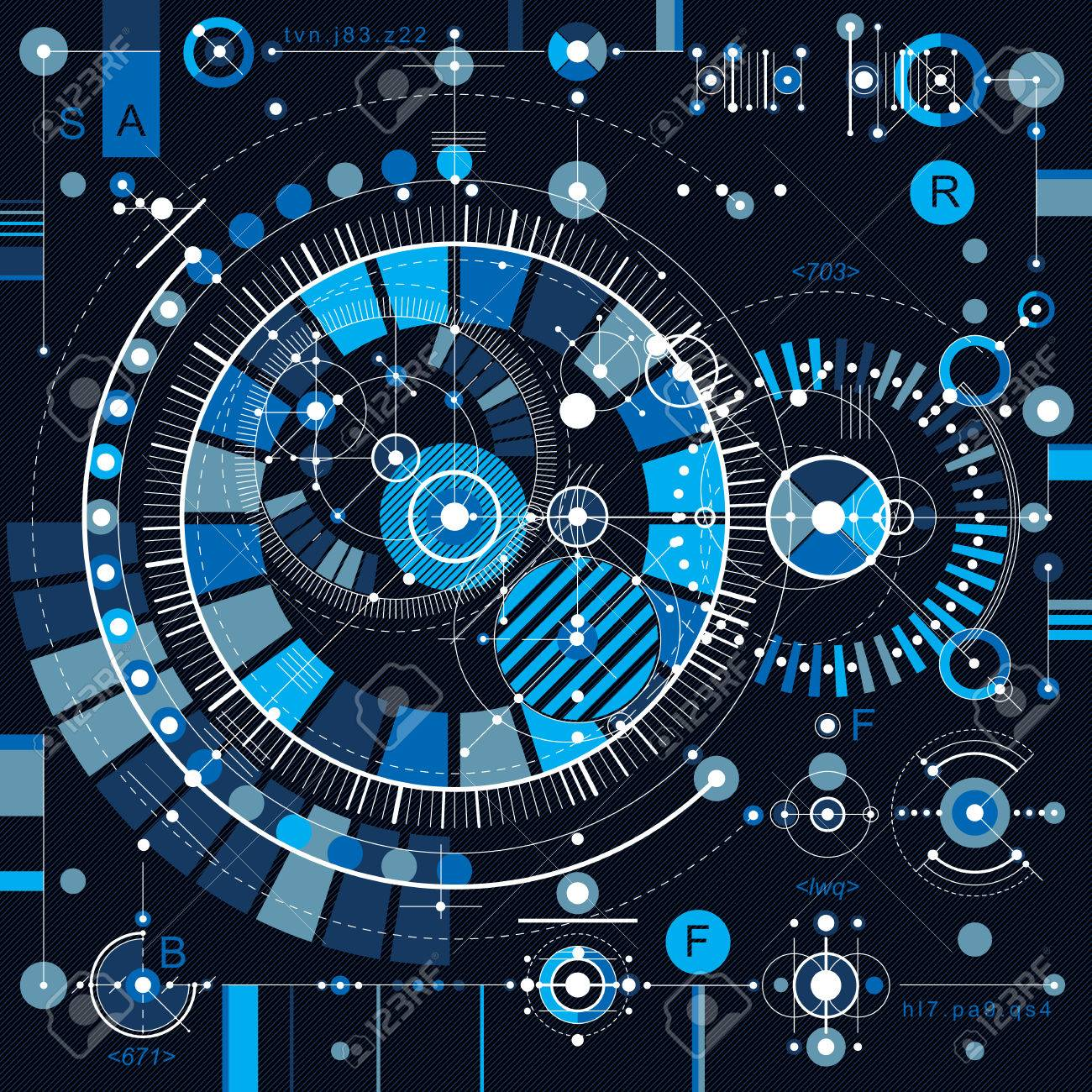 Architectural blueprint vector digital background with different architectural blueprint vector digital background with different geometric design elements for use as website malvernweather Images