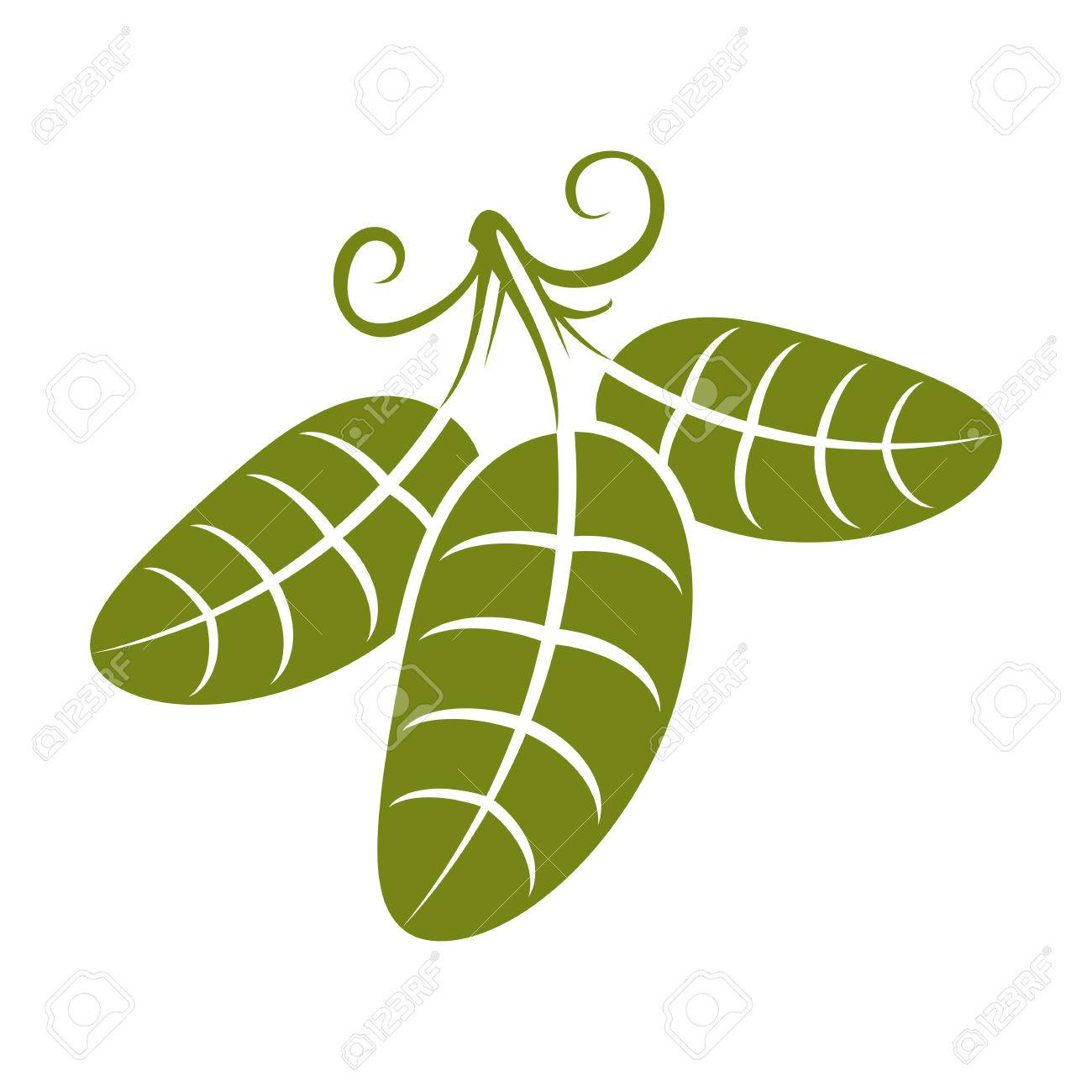 spring leaf with tendrils simple vector icon nature and gardening rh 123rf com leaf vector clip art leaf vector art