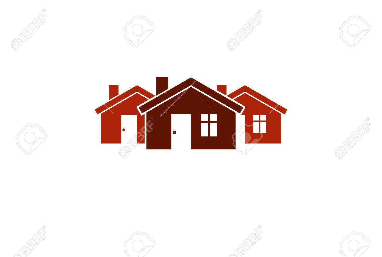 Abstract Simple Country Houses Vector Illustration, Homes Image ...