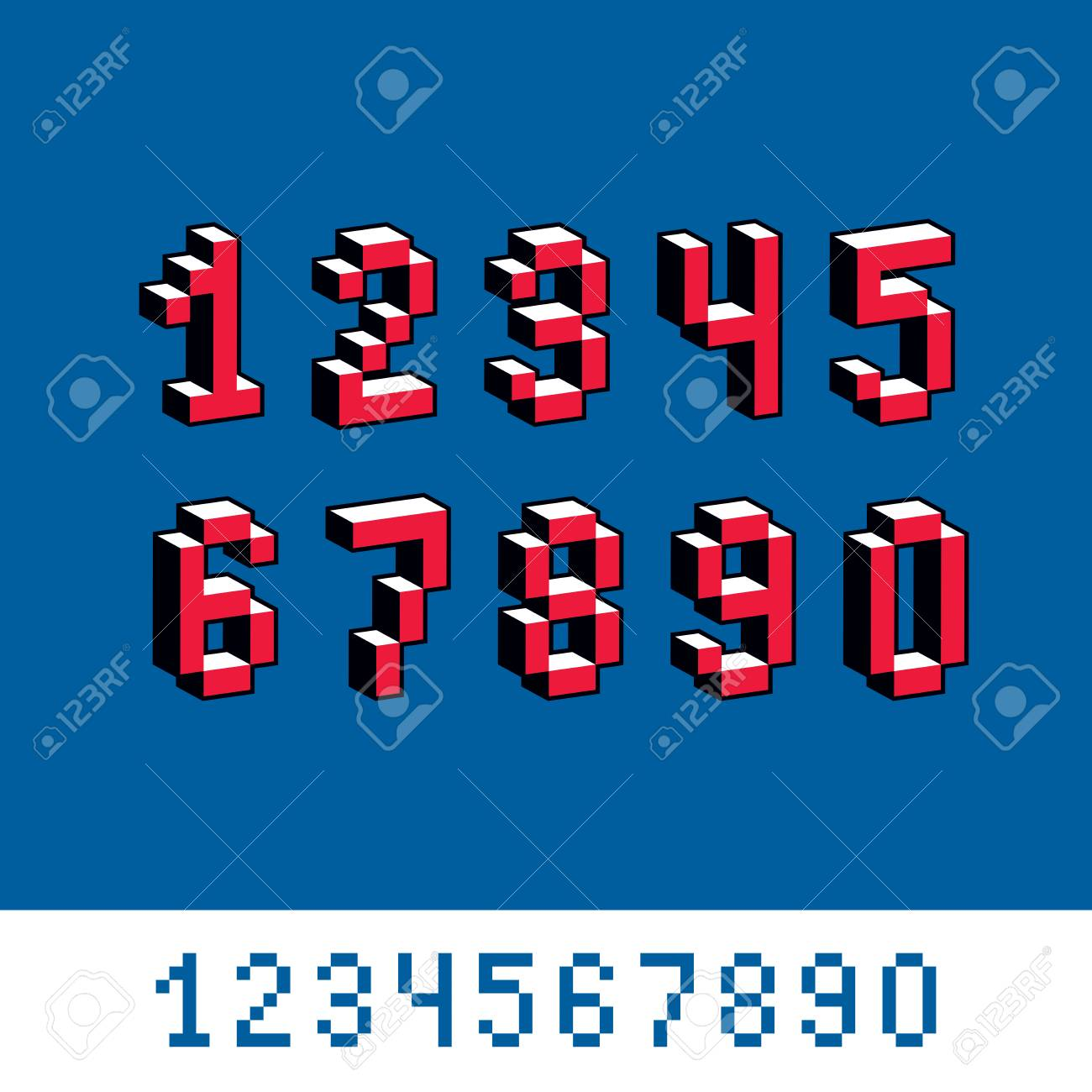 Vector modern tech whole numbers set geometric pixilated digits vector modern tech whole numbers set geometric pixilated digits 3d dotted 8 bit numeration biocorpaavc Gallery