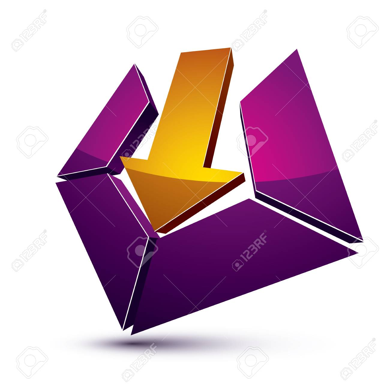 3d creative symbol with arrow aiming at target business objective 3d creative symbol with arrow aiming at target business objective conceptual vector sign stock buycottarizona Image collections