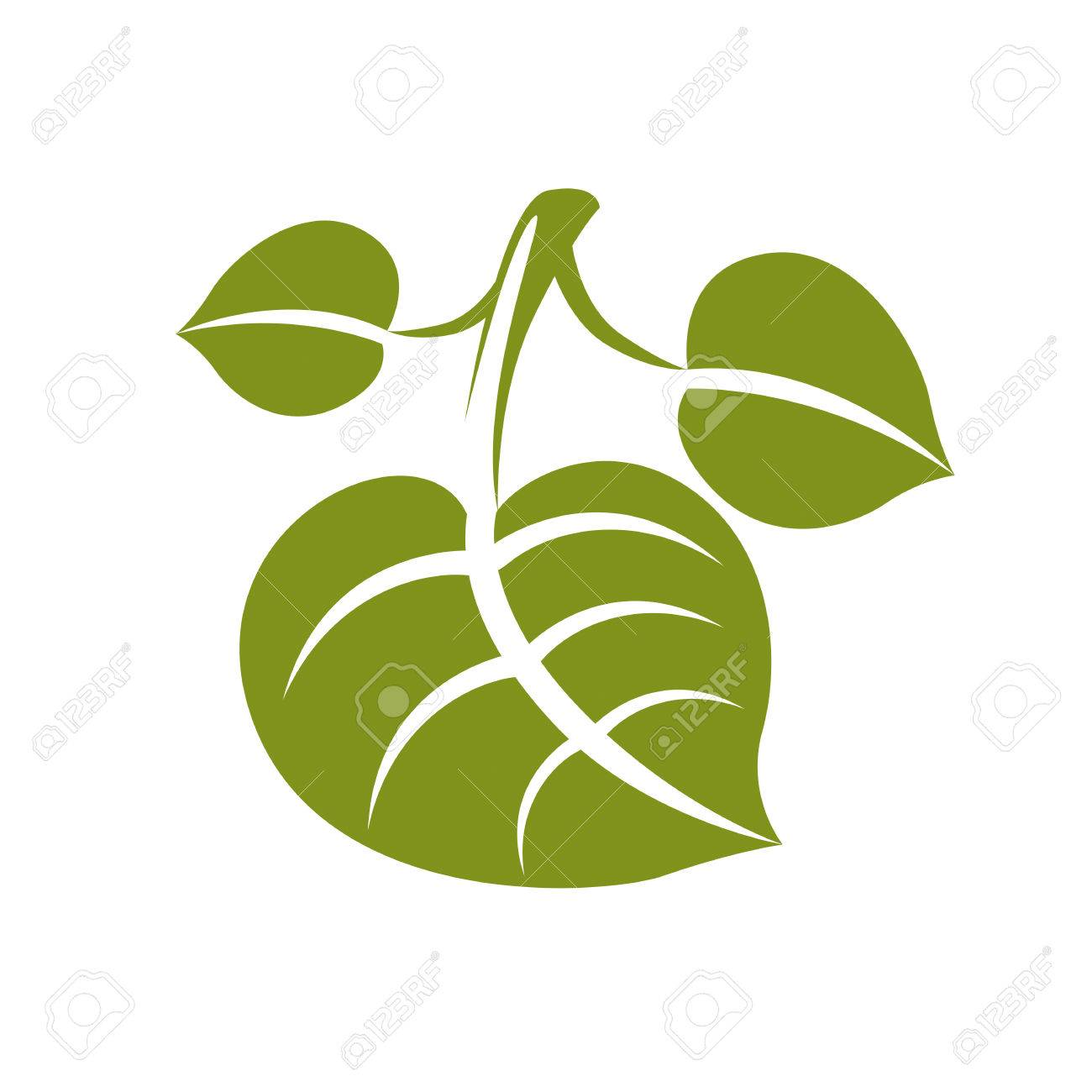 flat green deciduous vector tree leaf stylized nature element rh 123rf com leaf vector machines leaf vector free