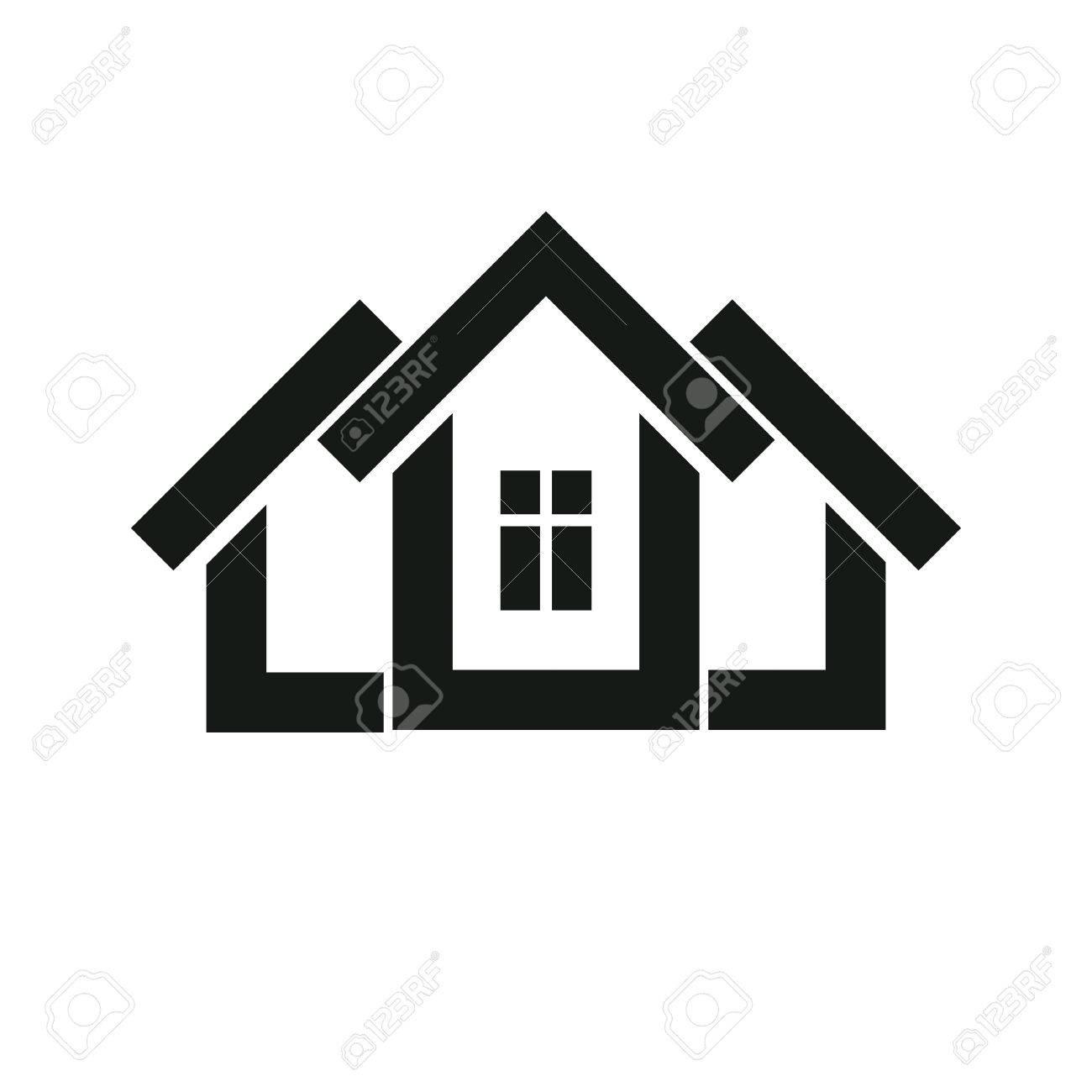 Bauträger Stilvolle Symbol, Immobilienbüro Firmenlogo. Kreative Bau ...