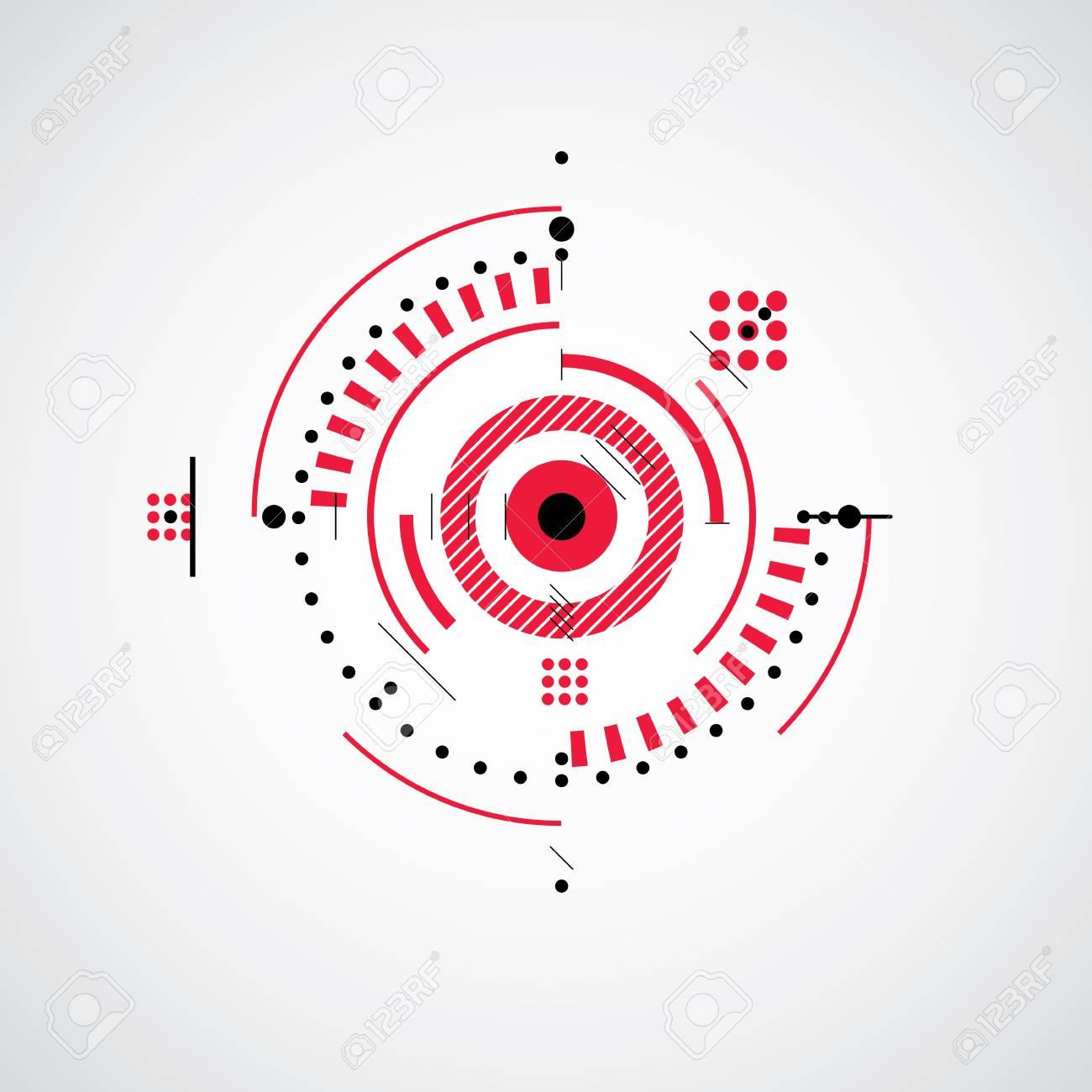 Arte Bauhaus, Decorativo Modular Vector De Papel Tapiz Rojo Hecho ...