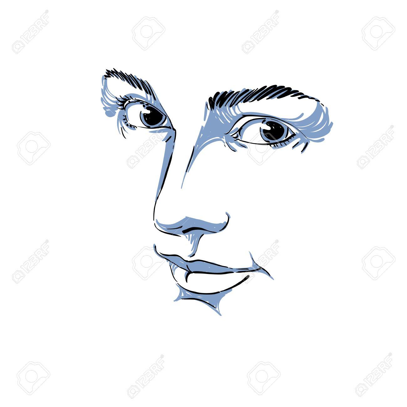 Portrait De L Offre De Rêve Encore Femme Noir Et Blanc Dessin