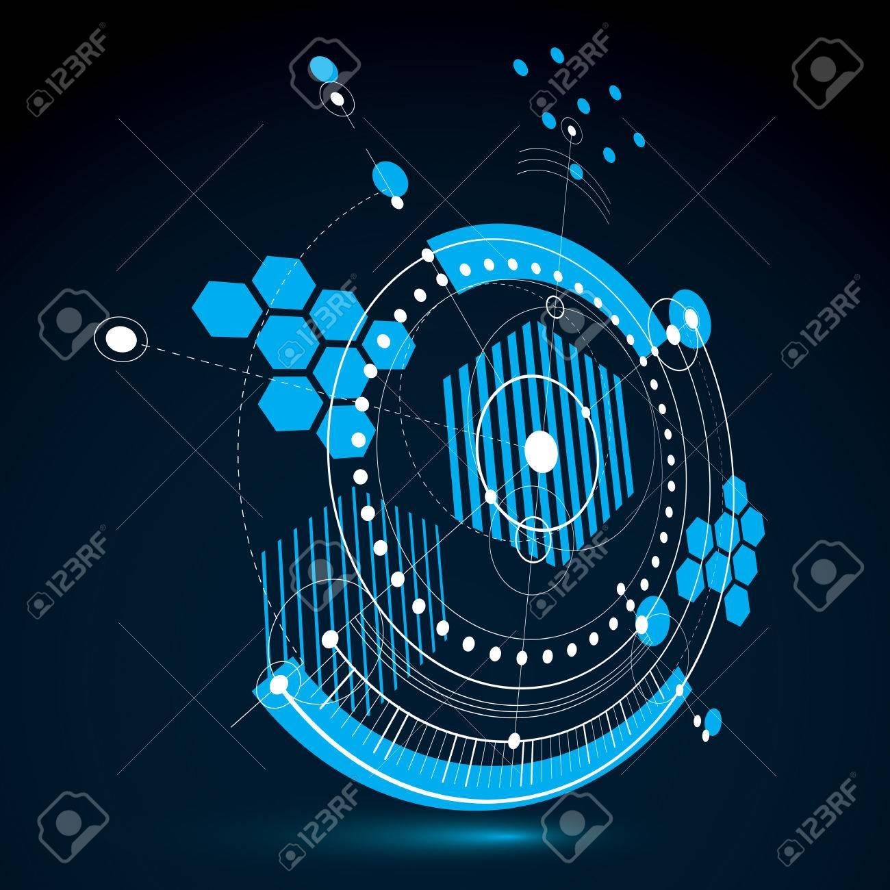 Technical blueprint blue vector digital background with geometric technical blueprint blue vector digital background with geometric design elements circles 3d illustration malvernweather Image collections