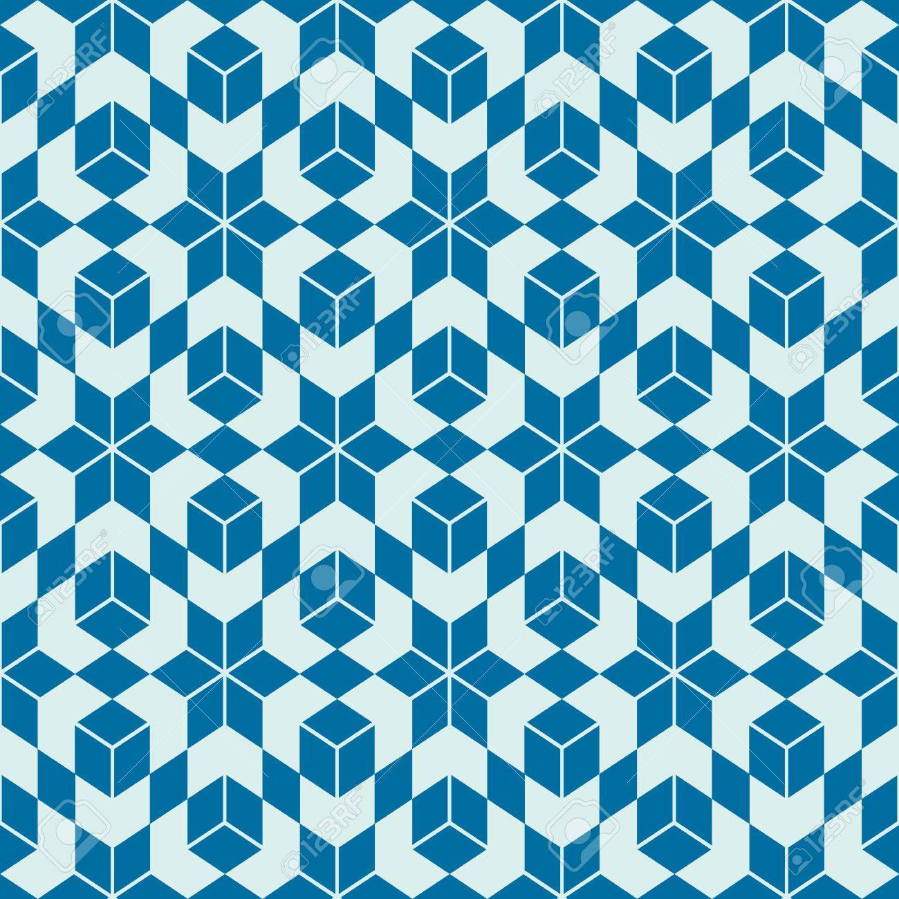 Graphic Ethnic Ornamental Tile, Vector Repeated Pattern Made ...