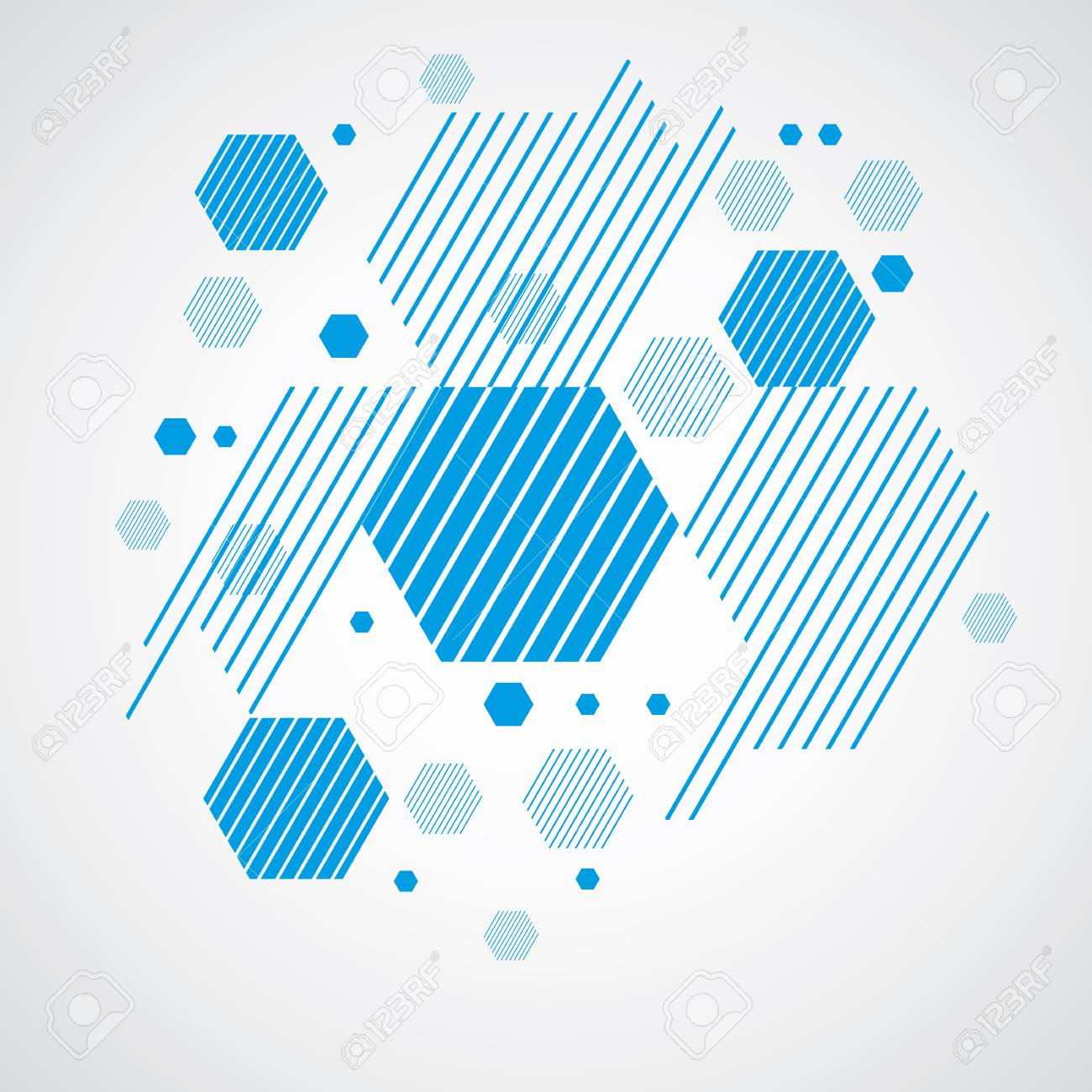 vector bauhaus abstract background made with grid and overlapping