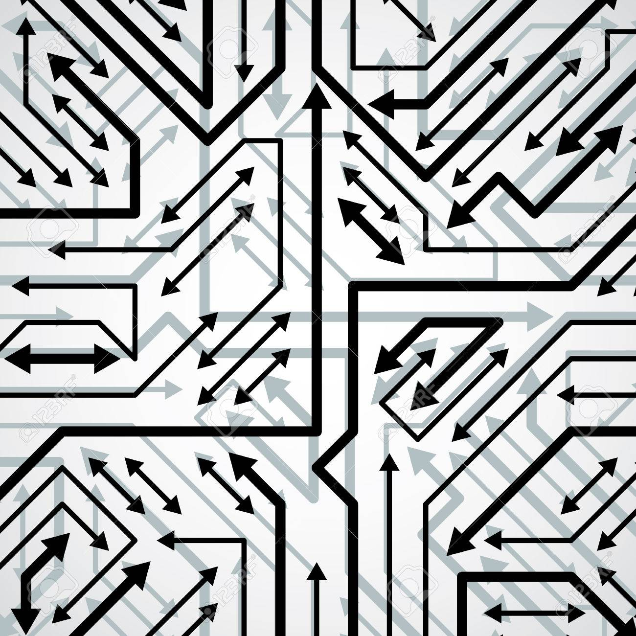 Vector Electronic Pattern With Microchip Scheme, Circuit Board ...