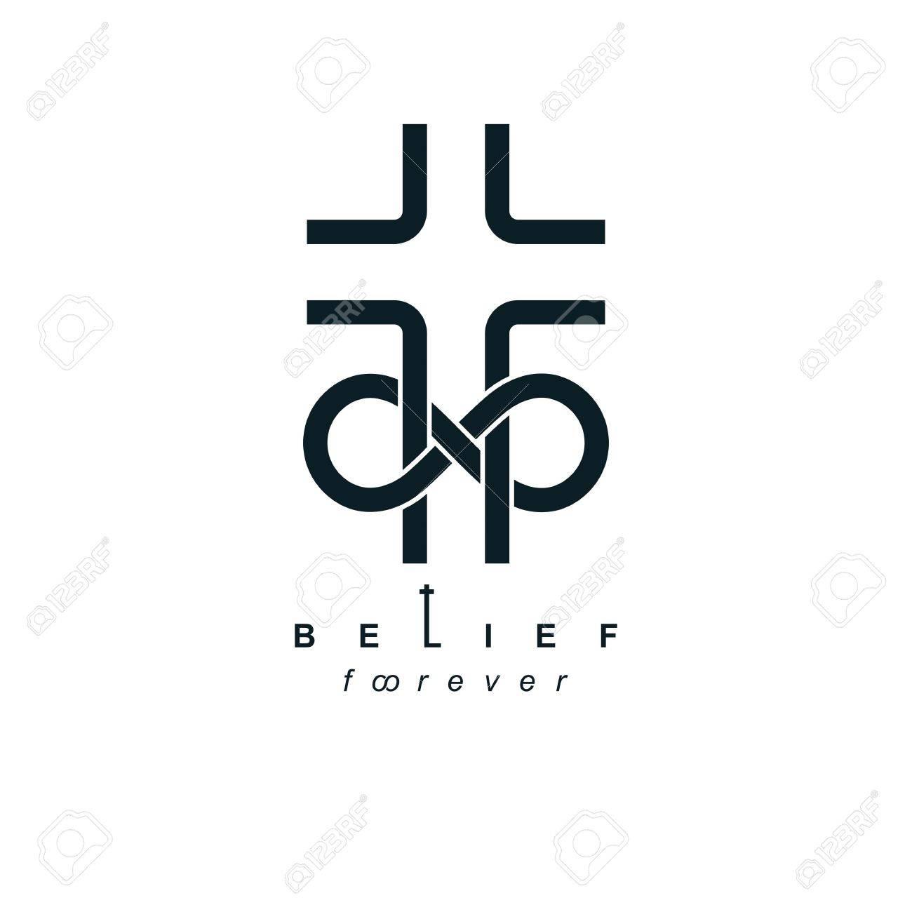 True Infinite Christian Belief In God Vector Creative Symbol