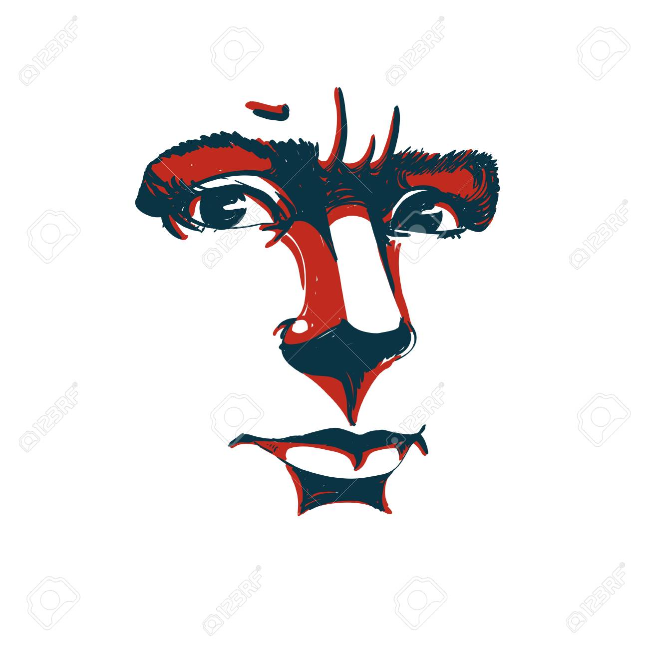 Vector portrait of irate woman illustration of good looking vector portrait of irate woman illustration of good looking but angry female person biocorpaavc Choice Image