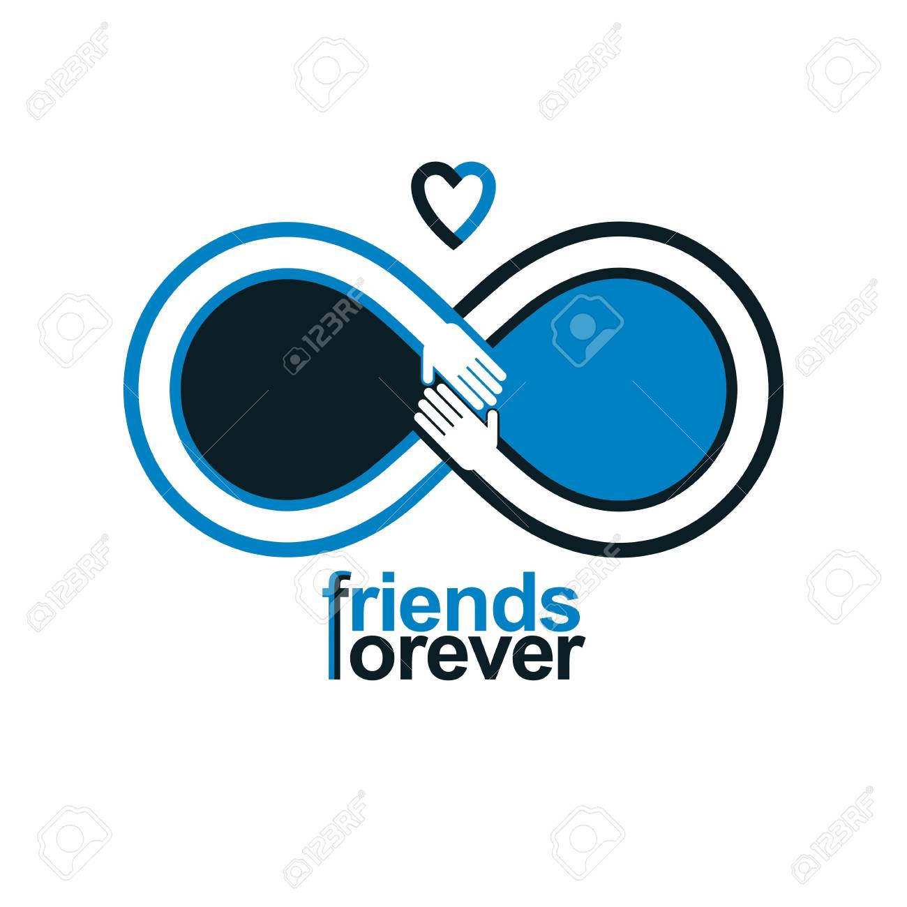 Friends forever everlasting friendship unusual vector logo friends forever everlasting friendship unusual vector logo combined with two symbols of infinity and human buycottarizona Choice Image