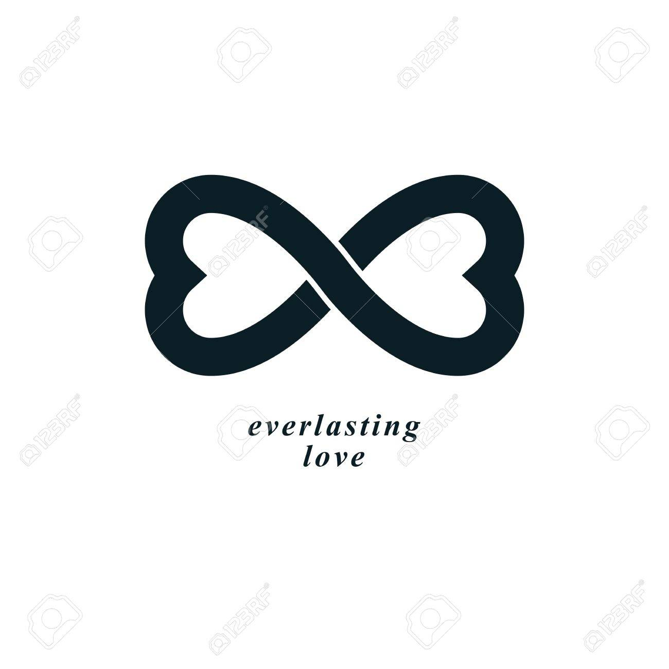 Infinite Love Concept Vector Symbol Created With Infinity Sign
