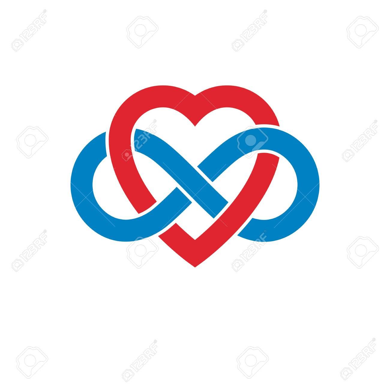 Concepto De Amor Infinito Símbolo Del Vector Creado Con El Signo