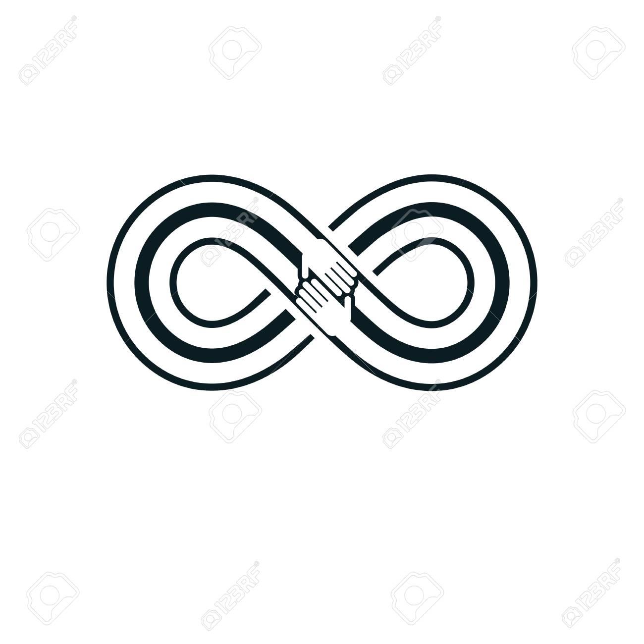 Friends forever everlasting friendship beautiful vector logo friends forever everlasting friendship beautiful vector logo combined with two symbols of eternity loop biocorpaavc Images