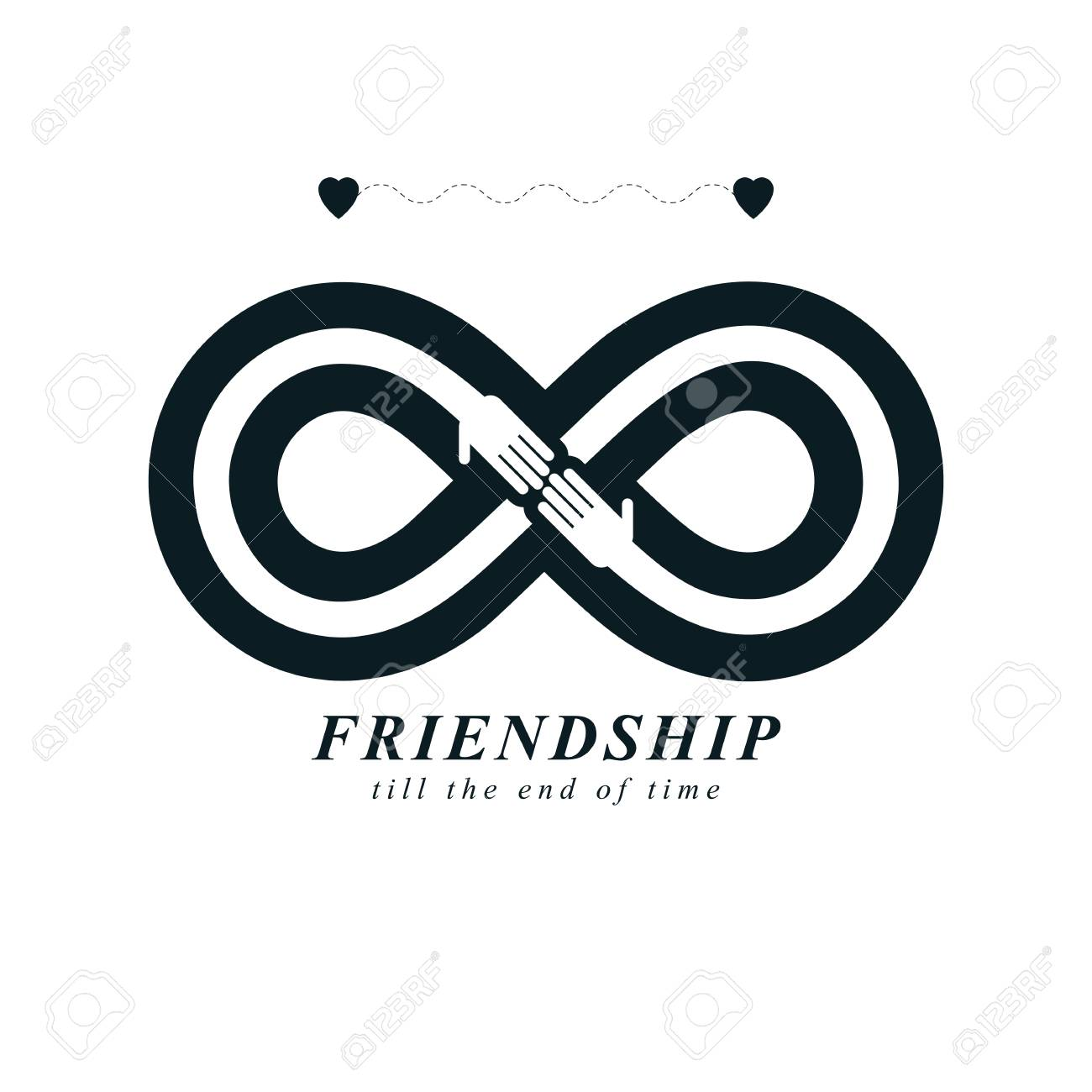 Infinity Sign With Two Hands Touching Each Other Infinite
