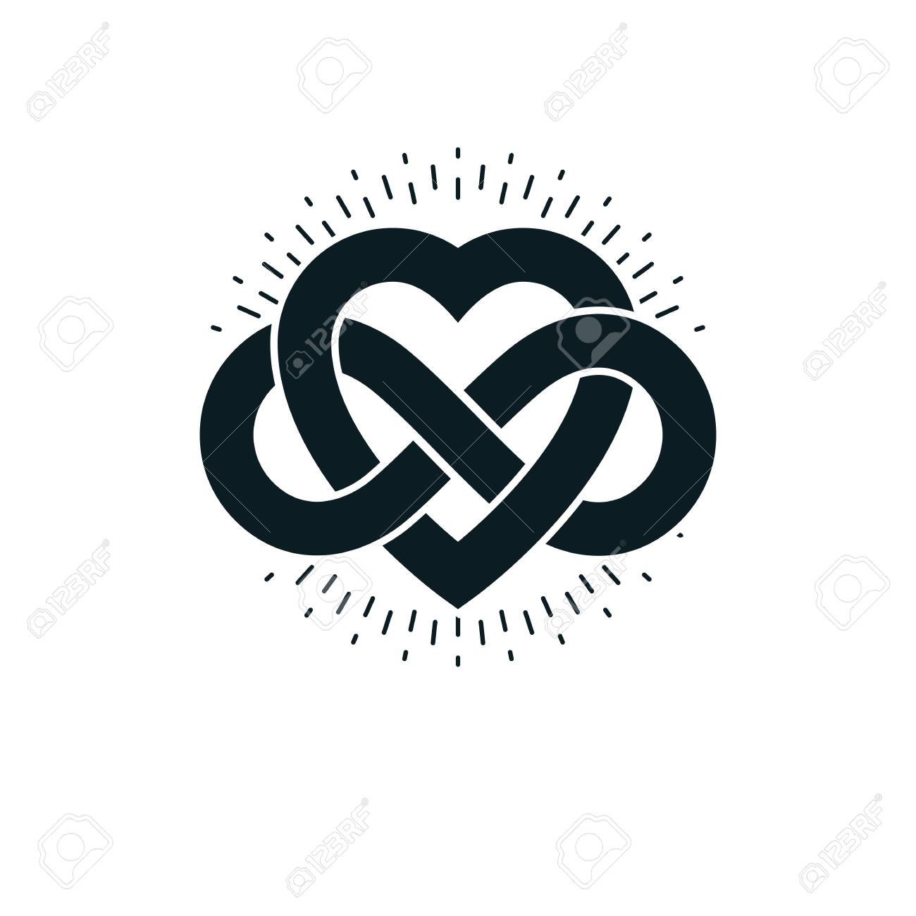 Timeless love concept vector symbol created with infinity loop timeless love concept vector symbol created with infinity loop sign and heart stock vector buycottarizona Gallery