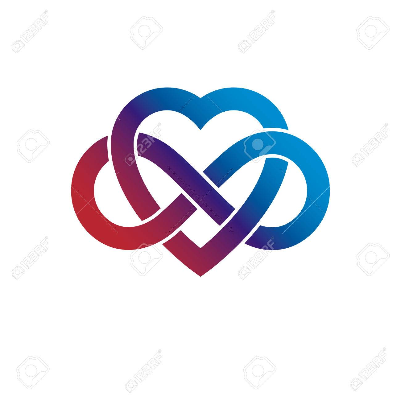 Infinite love concept vector symbol created with infinity loop infinite love concept vector symbol created with infinity loop sign and heart stock vector buycottarizona Gallery