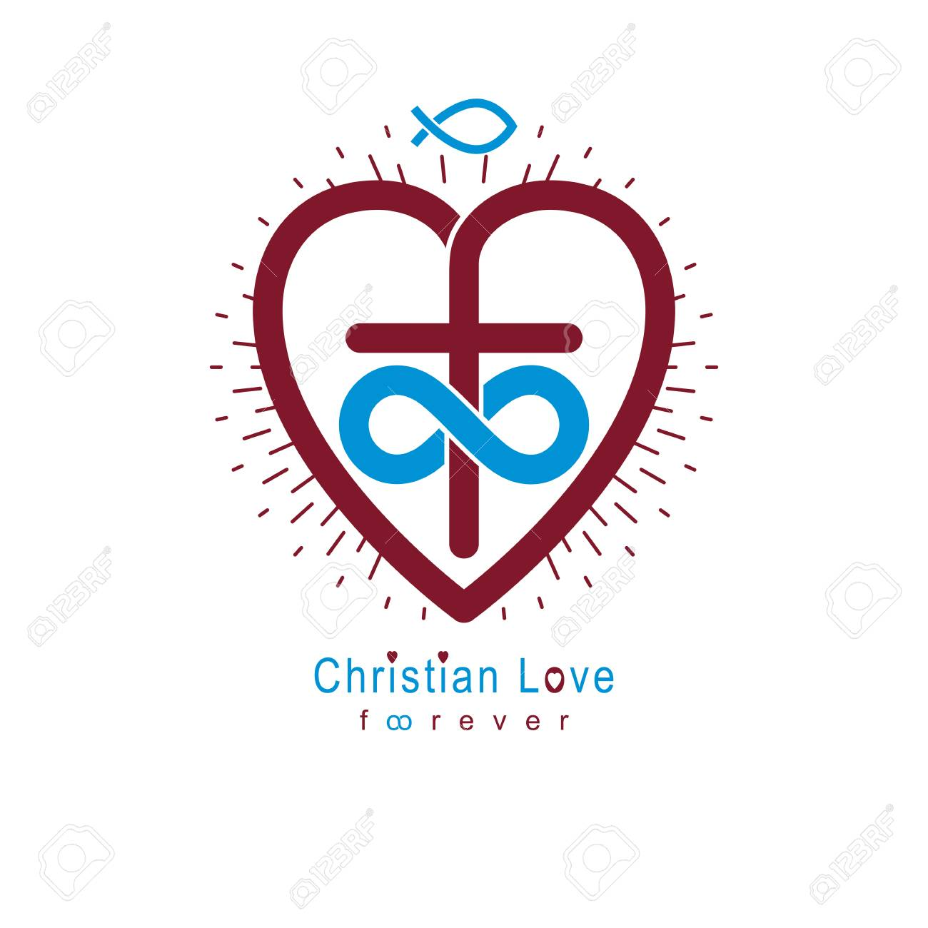 True Infinite Christian Love And Belief In God Vector Creative
