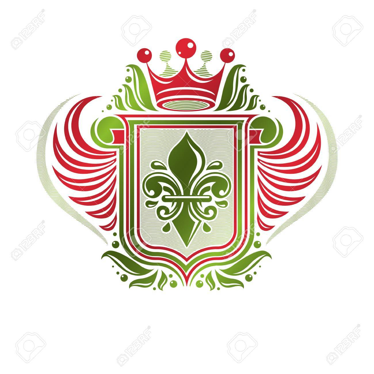 The heraldic lily is the favorite emblem of France 2
