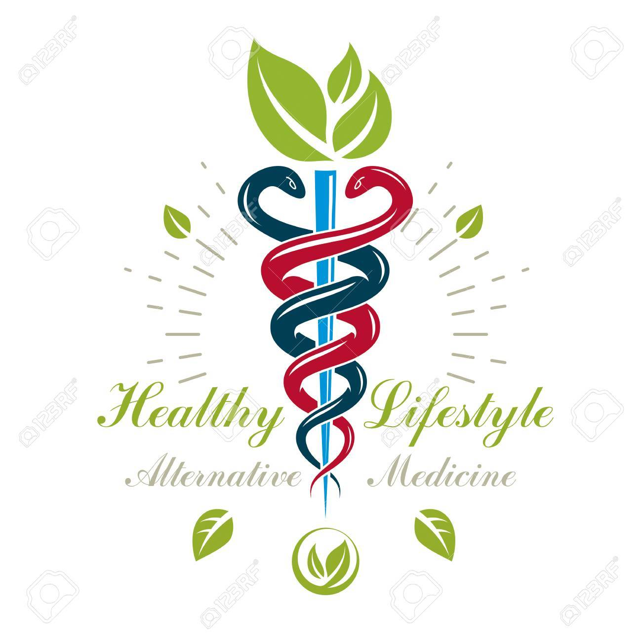 Caduceus Medical Symbol Graphic Vector Emblem For Use In Healthcare