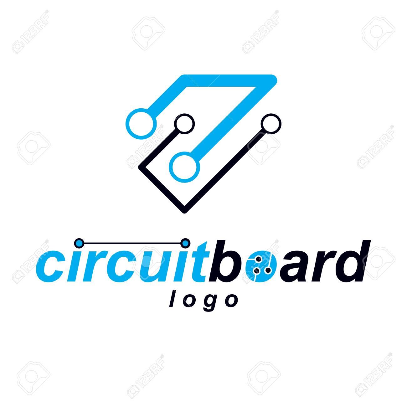 Vector Abstract Technology Circuit Board. High Tech Digital Scheme ...