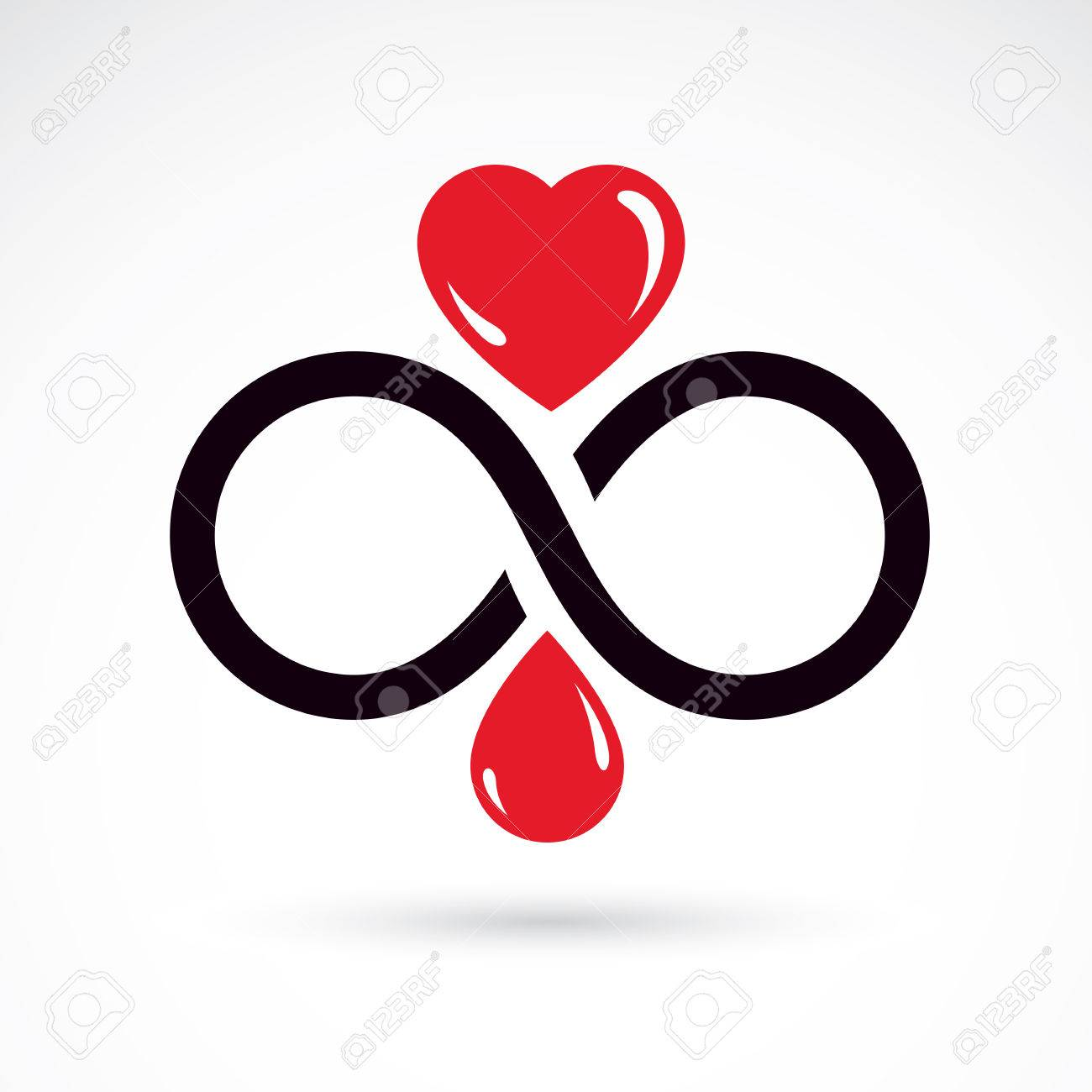 Vector illustration of heart shape and infinity symbol hematology vector illustration of heart shape and infinity symbol hematology theme medical treatment design buycottarizona Gallery