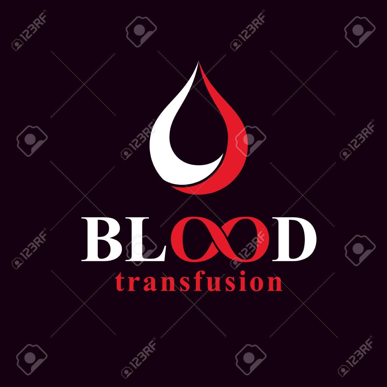 La Transfusión De Sangre Inscripción Hecha Con El Símbolo Del