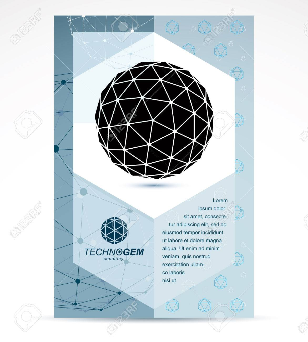 New Technology Theme Booklet Cover Design Front Page Abstract