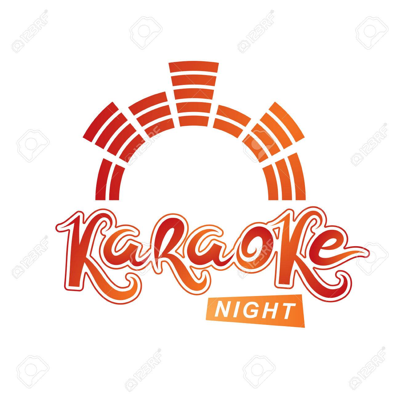 Karaoke Party Vector Writing Composed With Mute Symbol, Leisure ...