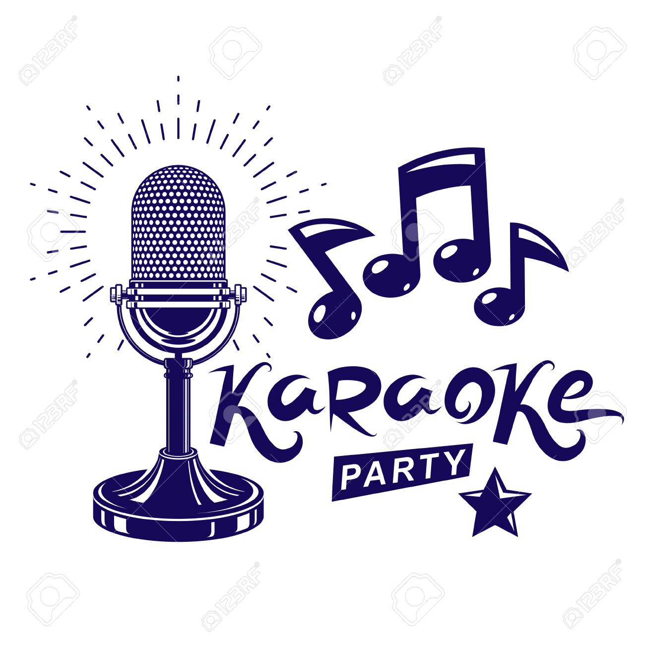 Karaoke party invitation poster live music vector concert karaoke party invitation poster live music vector concert advertising leaflet composed using stage or recorder stopboris Image collections