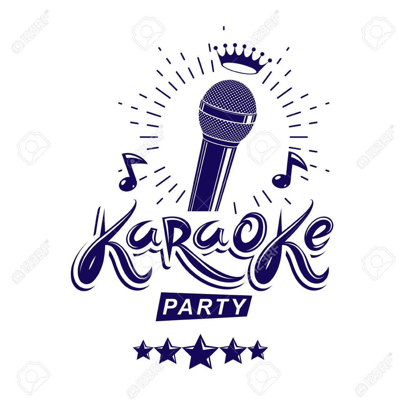 Karaoke Party Invitation Poster, Live Music Vector Concert ...
