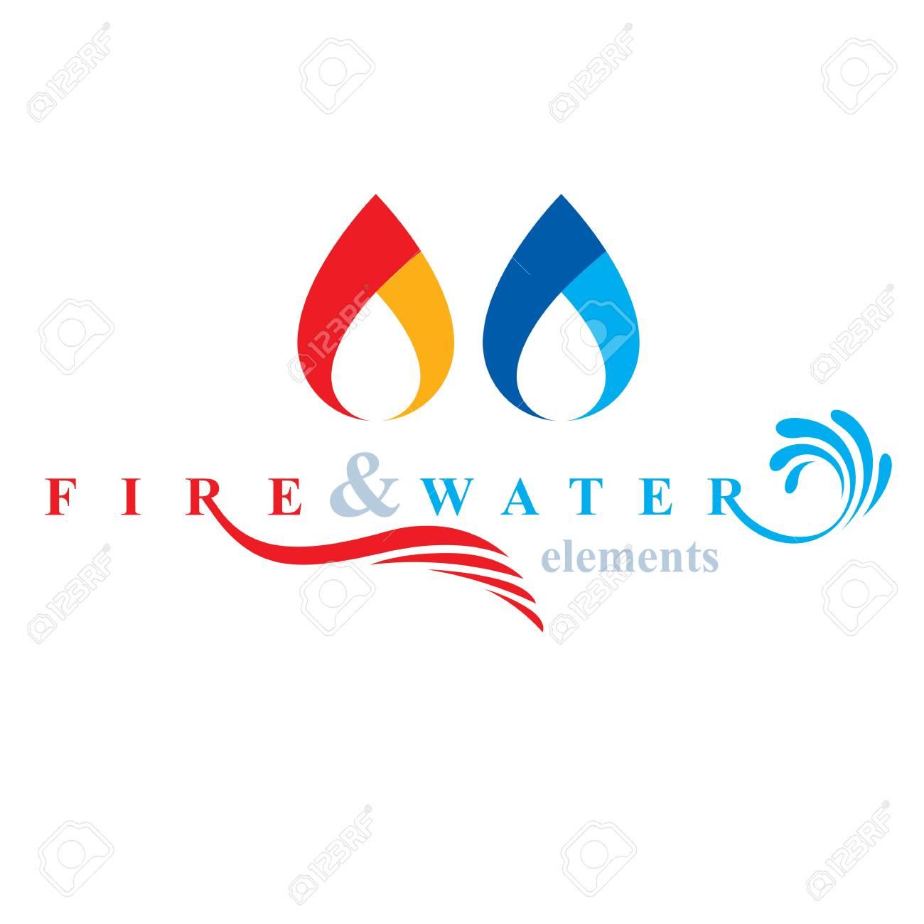 Nature elements harmony logo for use as corporate emblem fire nature elements harmony logo for use as corporate emblem fire and water balance stock biocorpaavc Choice Image