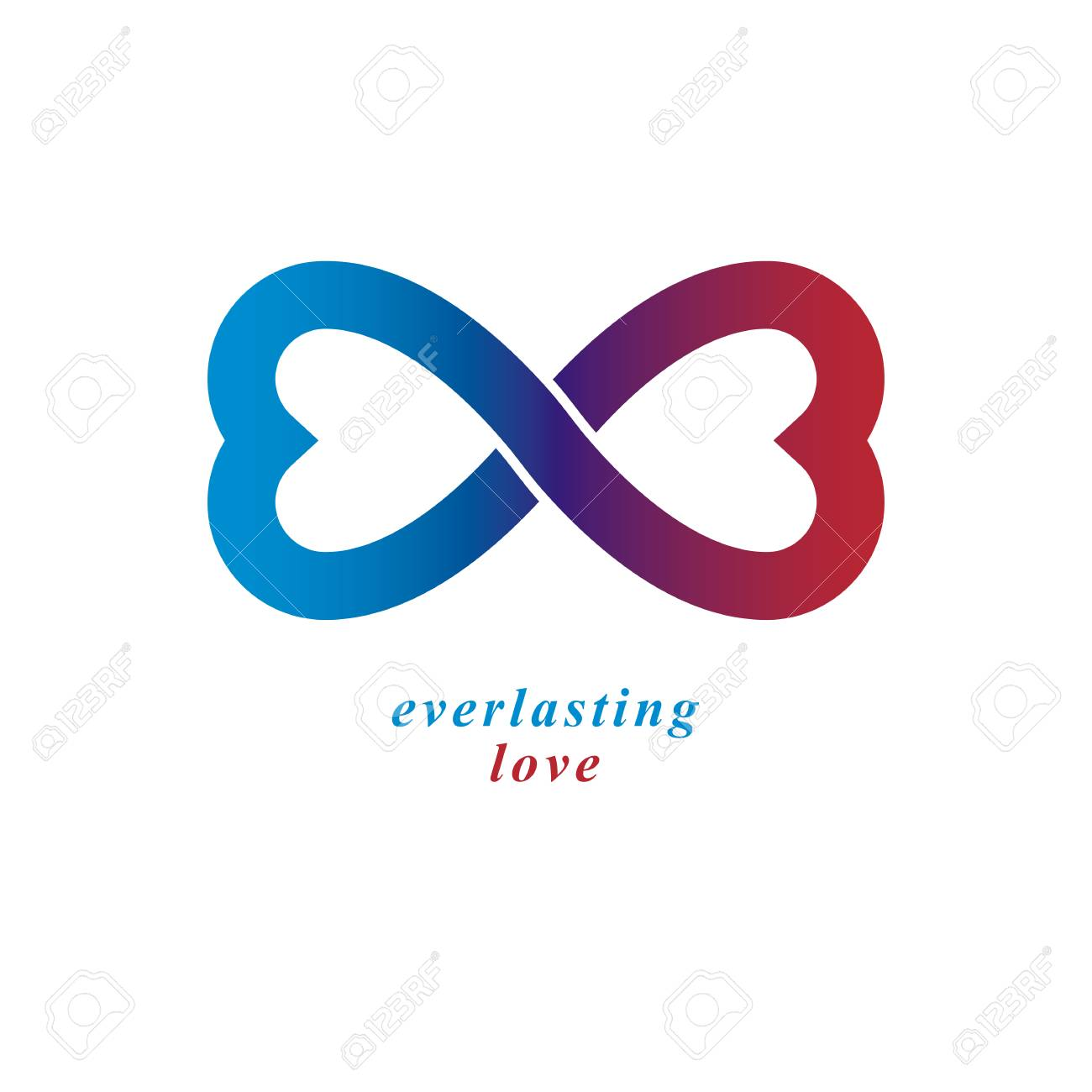 Love Forever Conceptual Logo Vector Symbol Created With Infinity